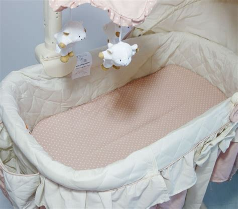 bassinet in bed infant rocking bassinet cot bed blue