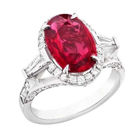 Ruby Engagement Rings by Oval Ruby Engagement Ring Faberg 233 The Jewellery Editor