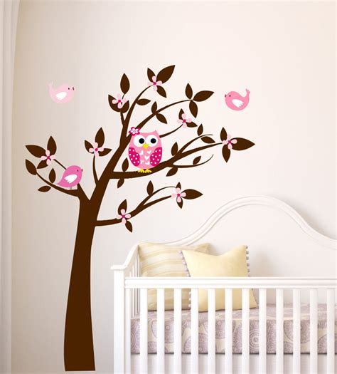 owl and tree wall stickers owl tree wall decal tree vinyl decal tree owl and