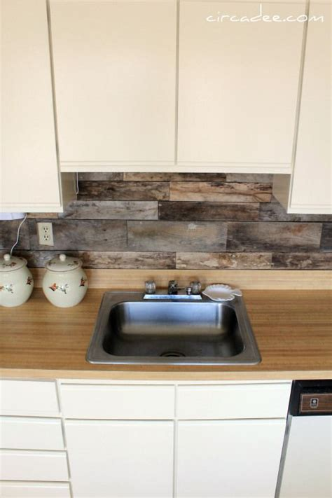wood kitchen backsplash weathered wood backsplash for the home