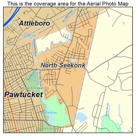 aerial photography map of north seekonk ma massachusetts