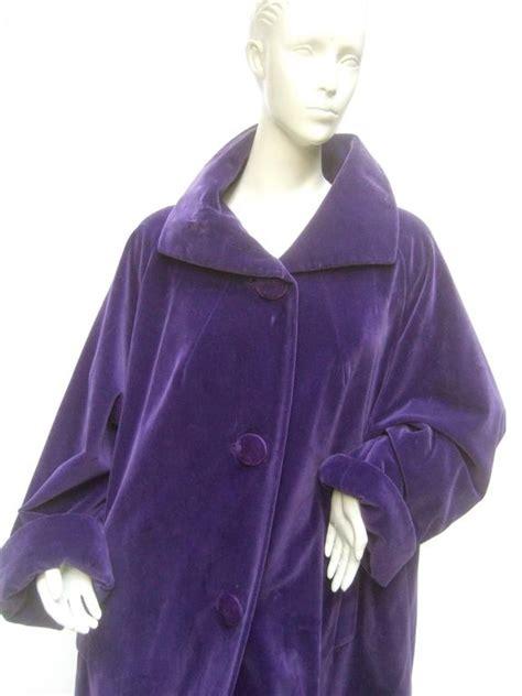 velvet swing coat amethyst plush velvet swing coat c 1960 at 1stdibs
