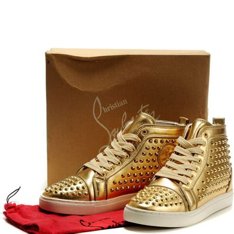 gold sneakers mens mens christian louboutin sneakers gold 149 50