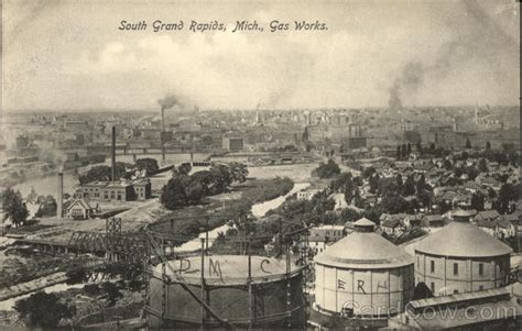 michigan pattern works grand rapids mi bird s eye view of gas works grand rapids mi postcard