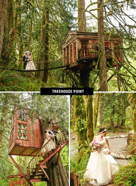 treehouse in seattle top 26 coolest places to get married in the us green