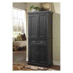 Black Kitchen Pantry Cabinet by Home Styles Nantucket Pantry Distressed Black Pantry