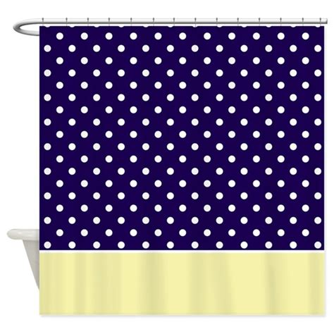 yellow and navy curtains navy blue yellow w dots shower curtain by