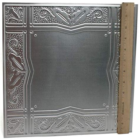 embossed tin backsplash 12 quot galvanized metal embossed tin leaves and berries tile