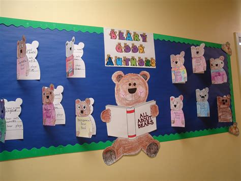 reading themes for kindergarten all about bears reading bulletin board idea cing