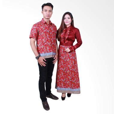 Batik Sarimbit Sania Merah Busui Elegan jual batik putri ayu srg505 sarimbit gamis batik merah harga kualitas