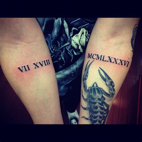 roman numeral forearm tattoo 9 numeral tattoos on arm