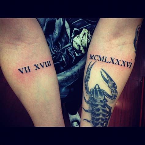 roman numbers tattoo arm 9 roman numeral tattoos on arm