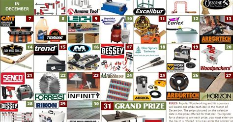 popular woodworking sweepstakes popular woodworking power tools giveaway 31 winners one