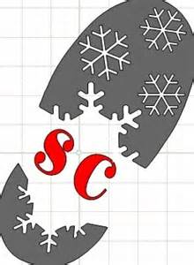 Santa Boot Template by The Scrapoholic 25 Days Of And Mtc Svg