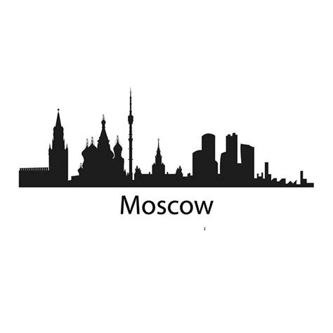Wall Murals Removable moscow skyline decal