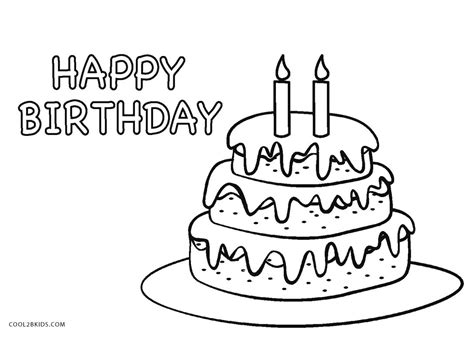 coloring page for birthday cake free printable birthday cake coloring pages for kids