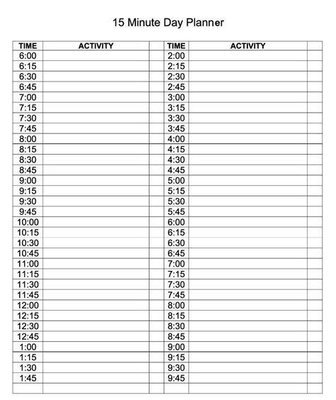 daily calendar template editable planner printable