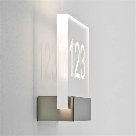 Led Wall Spotlights Numero 0924 Matt Nickel Led Lighting Wall Lights