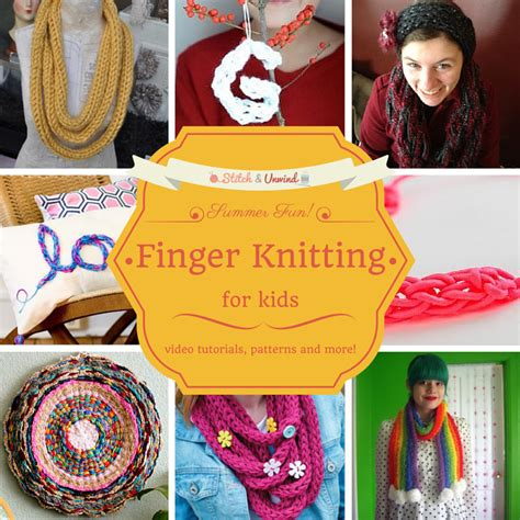 how do you end a knitting project kid stitches finger knitting projects to keep them busy