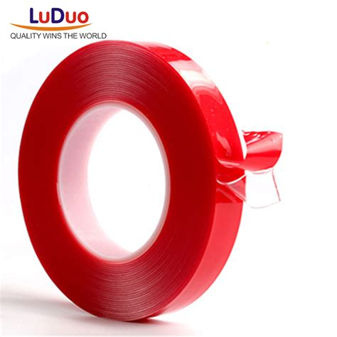 Grosir Dauble Tipe Dauble Tipe 3 M luduo 3m 10mm sided adhesive high strength acrylic gel transparent no traces