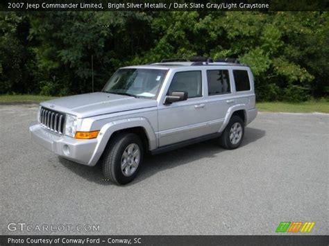 Silver Jeep Commander Bright Silver Metallic 2007 Jeep Commander Limited