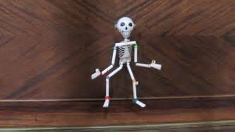 Make A Paper Skeleton - paper plastic bead skeleton marionette part 2