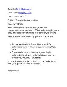 Emailed Cover Letter by Email Cover Letter Sles