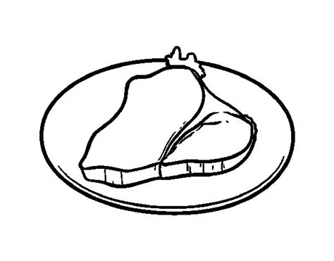 fillet steak coloring page coloringcrew com