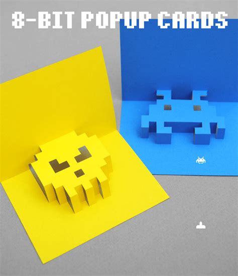 how to make pop up card templates 8 bit popup cards minieco