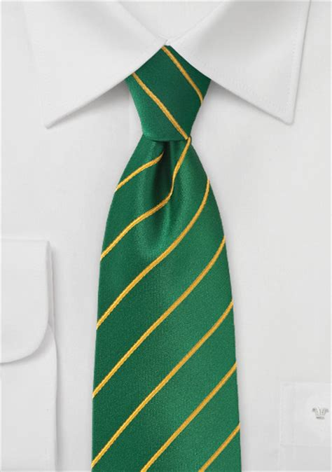 primary green tie with gold accents ties shop