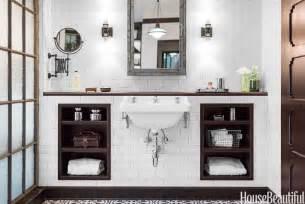 an industrial chic bathroom