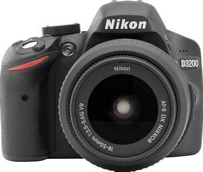 nikon d d3200 24 2mp digital slr black kit w af s dx vr 18 55mm lens 163 208 95