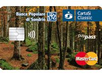 popolare di sondrio carta prodotti e servizi privati carte di pagamento
