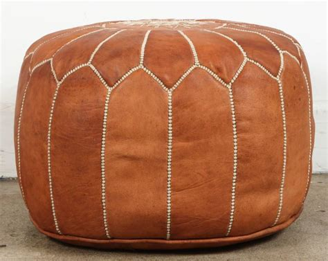 camel leather ottoman moroccan handcrafted leather camel ottoman for sale at 1stdibs