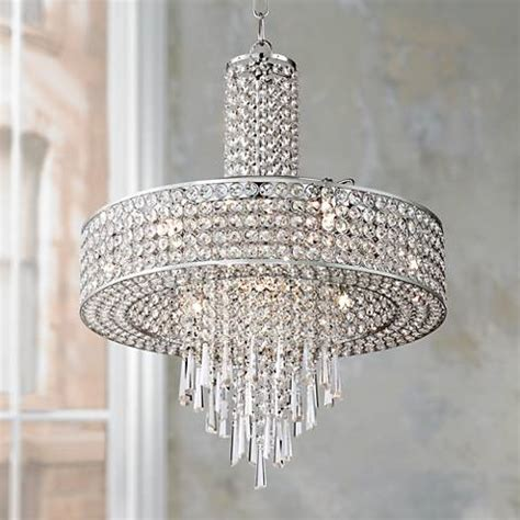 ls plus crystal chandeliers crystal cascade 19 3 4 quot wide crystal pendant chandelier