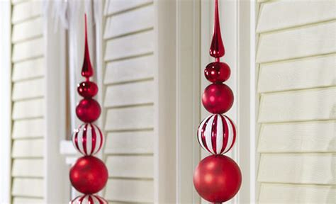 ornamental christmas ball finial topiary stake adorable home
