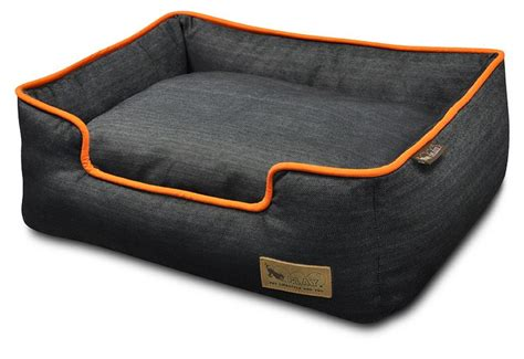 play dog beds check denim price play denim lounge orange dog bed large