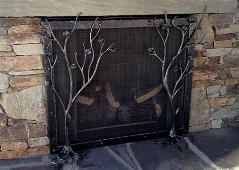 Handmade Fireplace Screens - fireplace screen handmade fireplace tools forged
