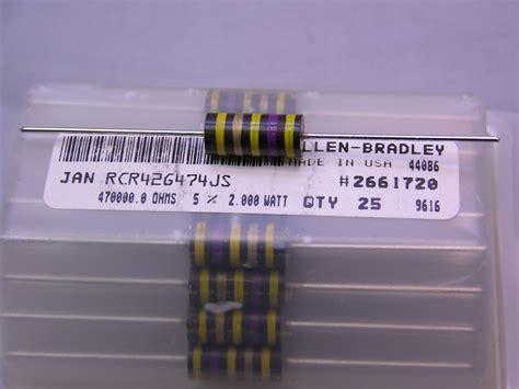 yellow violet gold resistor yellow violet gold resistor 28 images 10 mil spec allen bradley rcr42g470js 47 ohm 2w 5