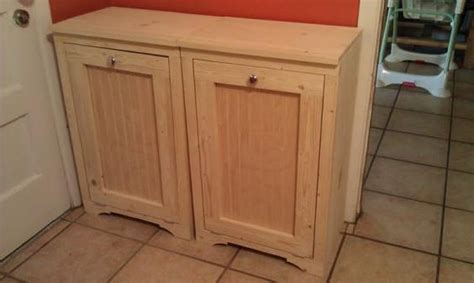 woodwork tilt out trash can plans pdf plans wood tilt out trash bins do it yourself home projects