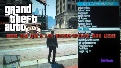 mod gta 5 offline pc xbox 360 gta 5 1 24 online offline mod menu download