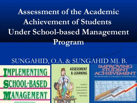 assessment of the academic achievement of students sbm