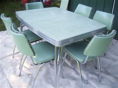 1950 retro dining table and chairs retro 1950 s vtg chrome formica table 6 chairs kitchen