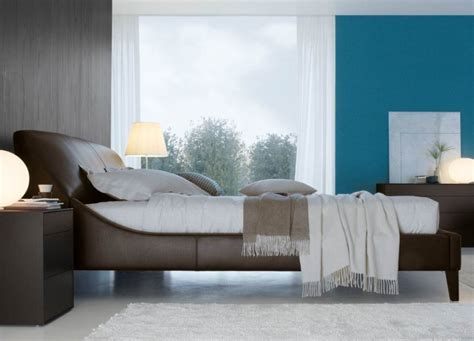 elysee leather bed beds go modern