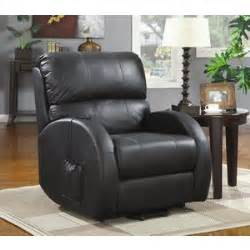 sale 779 00 power lift recliner in black leather