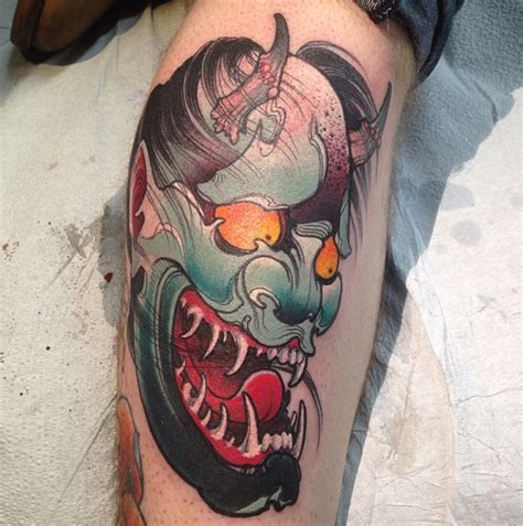 hannya mask tattoo traditional hannya mask by james tex tattoonow