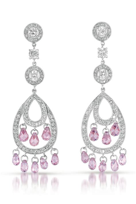 flawless cubic cubic zirconia and sterling silver pink