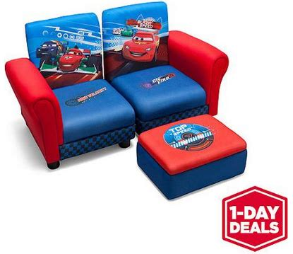 hot walmart one day deal disney cars sofa and ottoman