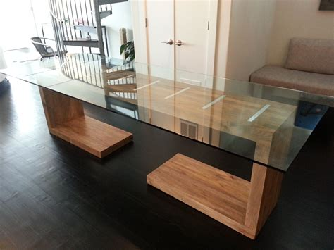 Hand Crafted Glass Top Dining And Side Table By Ajc Custom Glass Dining Table