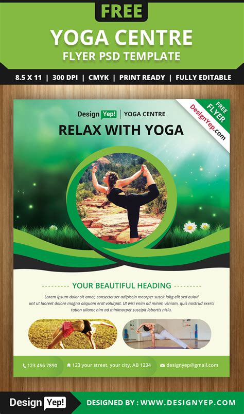 Open Source Flyer Templates Free Yoga Flyer Psd Template For Download Designyep